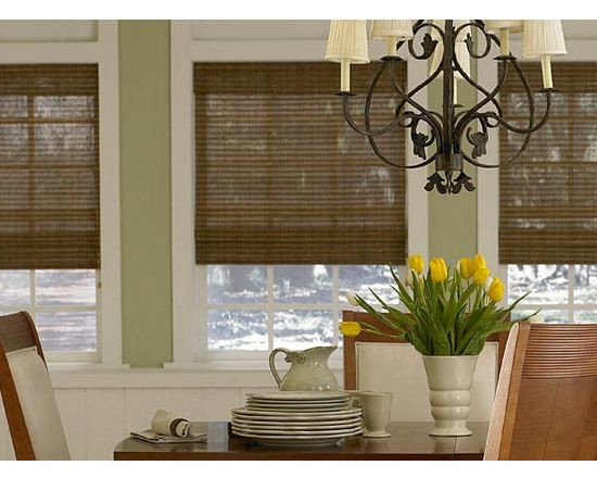 Woven Wood Blinds- 3 Day Blinds - Woven Wood Blinds are actually called Woven Wood Shades at 3 Day Blinds becuase of they operate as a shade. Made from eco-friendly materials, woven wood blinds bring out the natural wood tones in any space.