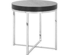 Silver Round End Table- Safavieh Home Furniture modern side tables and accent tables