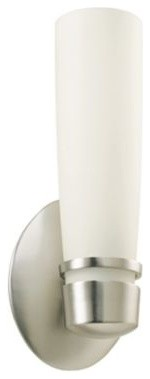 Aria Brushed Modern 4 1/2-Inch-W American Wall Sconce contemporary-wall-sconces