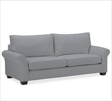 PB Comfort Roll Upholstered Grand Sofa, Polyester Wrap Cushions, Washed Linen-Co traditional-sofas