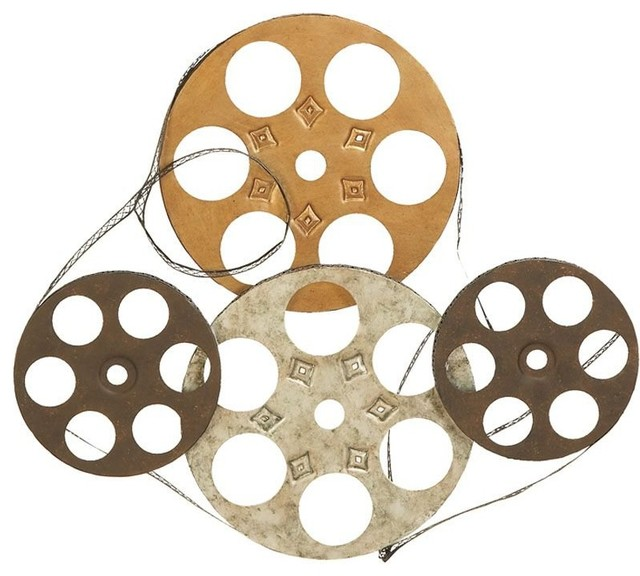 Metal Wall Decor Film Reels - Set of 4 traditional-artwork