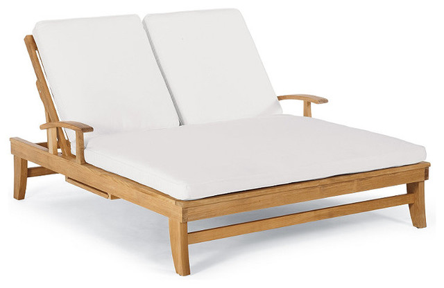 Melbourne double outdoor chaise lounge with cushions for Chaise furniture melbourne
