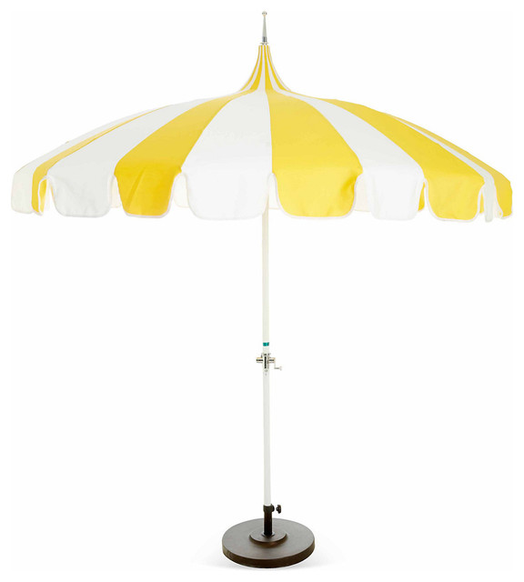 Pagoda Patio Umbrella Yellow Contemporary Outdoor