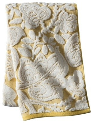 Threshold Floral Bath Towel Yellow Contemporary Bath Towels By Target