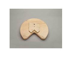 Rev-A-Shelf - Kidney Shape LD Banded Wood Tray w/ Steel Bearing Corner Lazy Susa