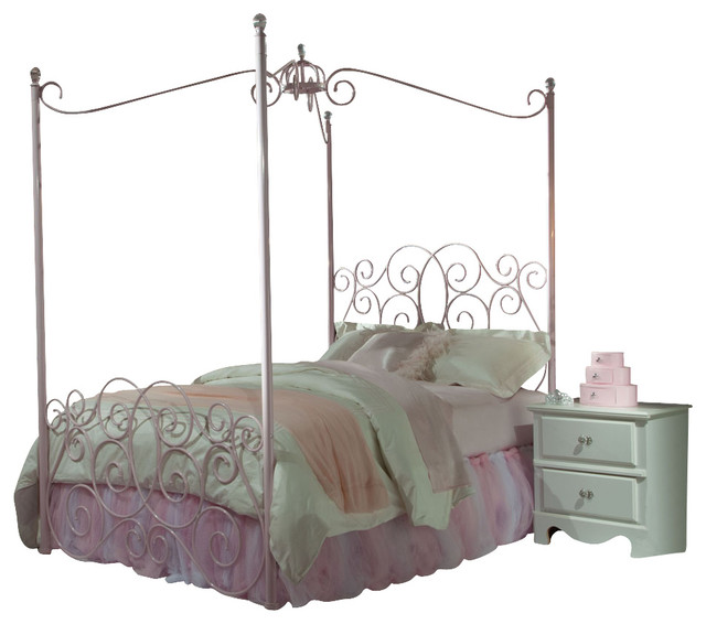 Standard Furniture Princess 3-Piece Kids' Canopy Bedroom Set in Pink Metal - Traditional - Kids ...
