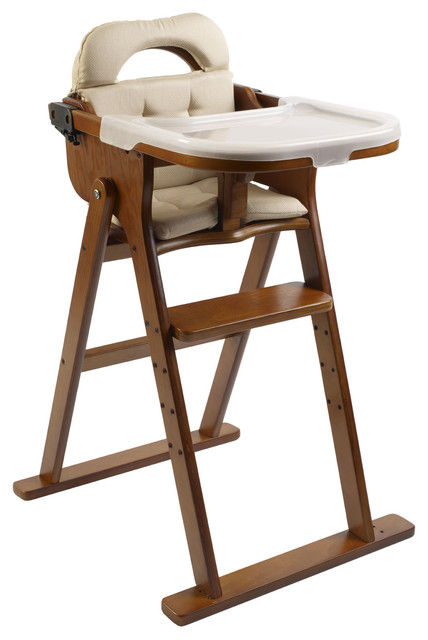 high chair in honey all modern baby modern high chairs and booster
