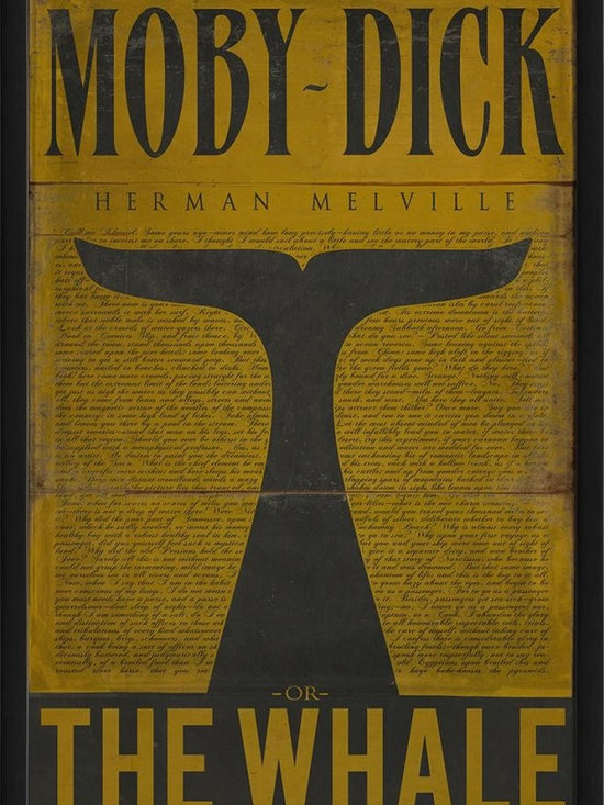 The Artwork Factory - Moby Dick Framed Artwork - Ready-to-Hang, 100% Made in the USA, museum quality framed artwork