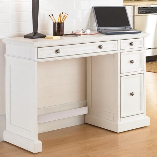 Home Styles Traditions White Utility Desk With Wood Top
