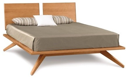 Astrid Bed with 2 Adjustable Headboard Panels modern-beds