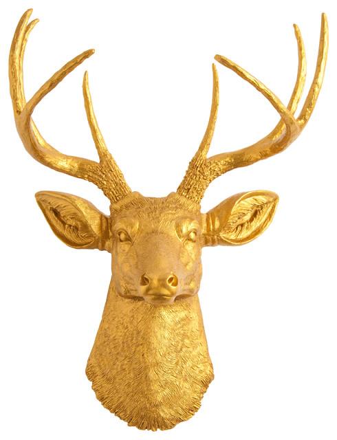 Gold Deer Head Decor Living Rooms