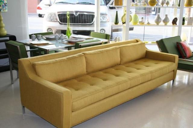 Lautner Sofa With Gold Tweed contemporary-sofas