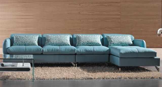 Modern Sectional Sofa in Blue modern-sectional-sofas