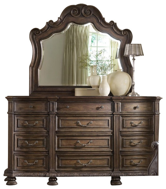 12-Drawer Dresser traditional-dressers-chests-and-bedroom-armoires