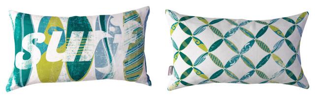 Surfs Up Lumbar Pillow tropical-decorative-pillows