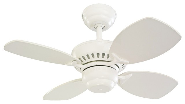 """Kids 28"""" Colony II White Finish Ceiling Fan - Contemporary - Ceiling Fans - by Lamps Plus"""