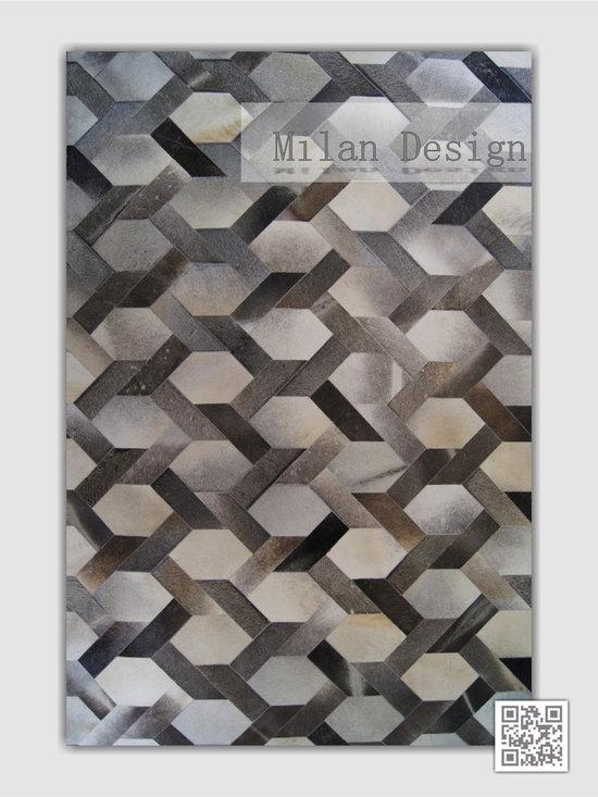 | Luxury Hide Patchwork Rugs ~ Milan Design - Kaymanta