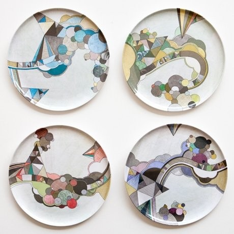 Poketo the middletons plates contemporary dinner plates by supermarket - Funky flatware sets ...