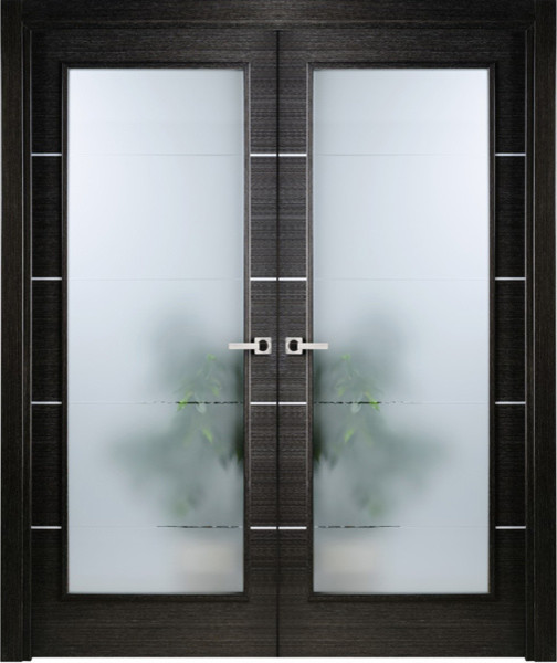 ... Italian Black Apricot with Frosted Glass contemporary-interior-doors