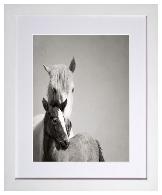 """Mare and Foal Camargue"" Limited Edition Print contemporary-prints-and-posters"