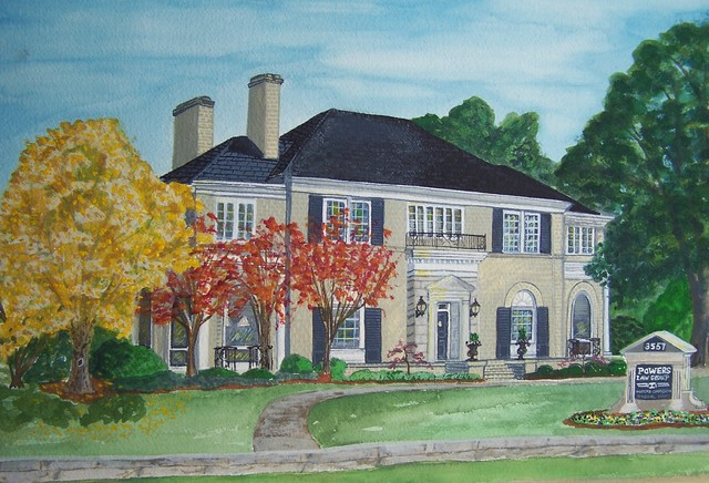 House Portrait Examples traditional-artwork