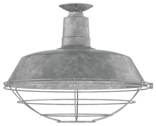 Original® Warehouse Flush Mount Pendant - Industrial - Flush-mount ...