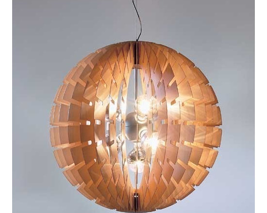 BLux - Helios Wood Pendant Light | BLux - Design by Manel Ybarguengoitia.