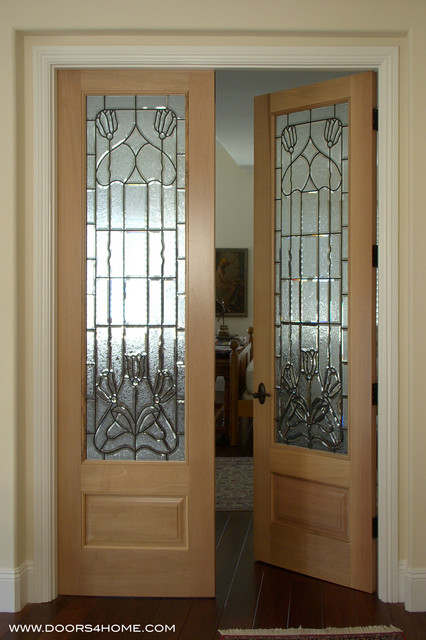 interior beveled glass doors traditional interior