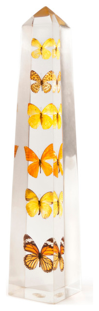 Lucite Butterfly Obelisk contemporary-fireplace-mantels