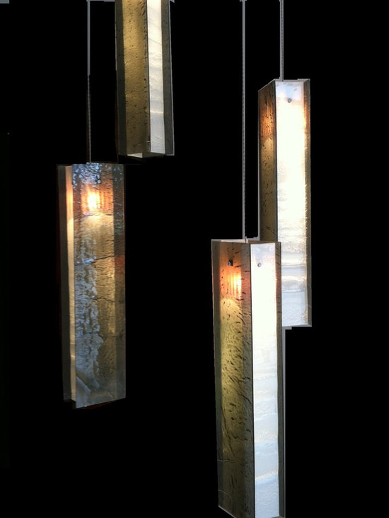 Candle chandelier -modern pendant light - Exotic candle chandelier in grey&white