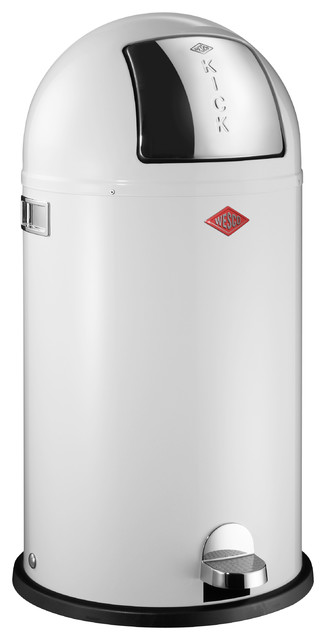 wesco kickboy waste can white contemporary trash cans by lien co inc. Black Bedroom Furniture Sets. Home Design Ideas