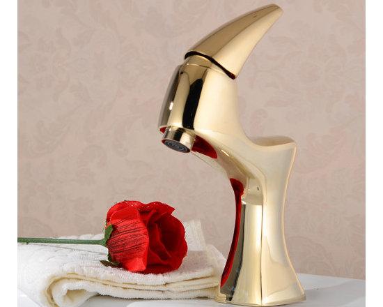 Luxury Unique Modern Design Single Handle Bathroom Faucet -