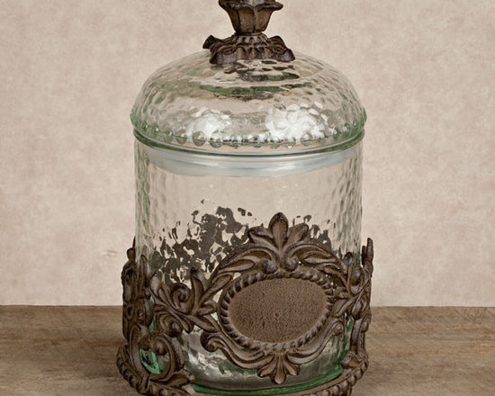 The GG Collection Griffen Treat Jar - Pretty enough to display anywhere, this elegant jar is designed to hold pet treats and can be personalized with a single 1.5 inch monogram letter. Beautiful, Italian-inspired, ceramic serving pieces with burnished metal accents by the GG Collection. This exceptional line of goods, for gracious entertaining, brings Old World elegance and style to your home.