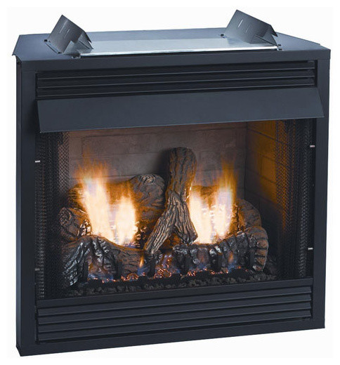 """Deluxe 42"""" Vent-Free Firebox - Louver Refractory Liner modern-indoor-fireplaces"""