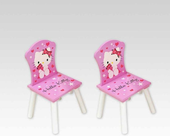 Kids Furniture - Sturdy yet lightweight, these chairs are great for all your little ones to sit together during playtime. Match it with the Hello Kitty Table + 2 Chairs set and four little ones can get together for hours of fun.