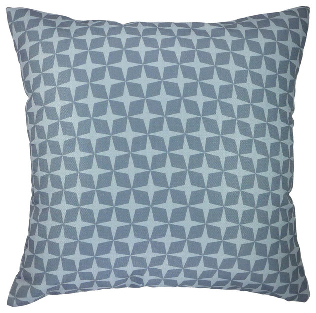 Star (gray) printed graphic throw pillow 20