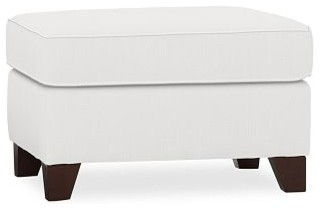 Cameron Roll Upholstered Upholstered Sectional Ottoman, Polyester Wrap Cushions, traditional-sofas