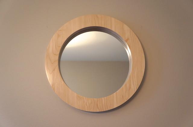 Round Wood Mirrors modern-mirrors