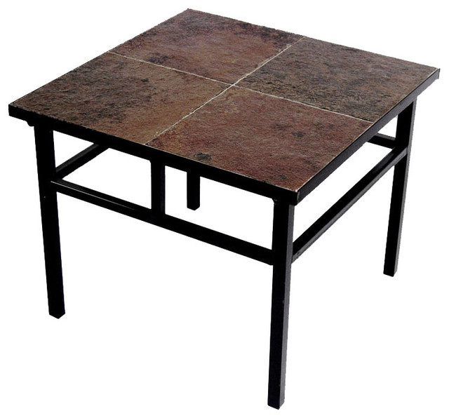 End Table W Slate Top Modern Coffee Tables By Modern Furniture Warehouse