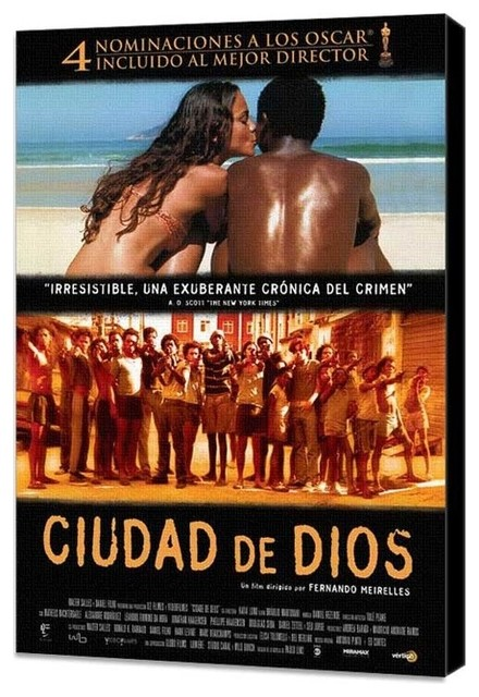 City of God 27 x 40 Movie Poster - Spanish Style B - Museum Wrapped Canvas prints-and-posters