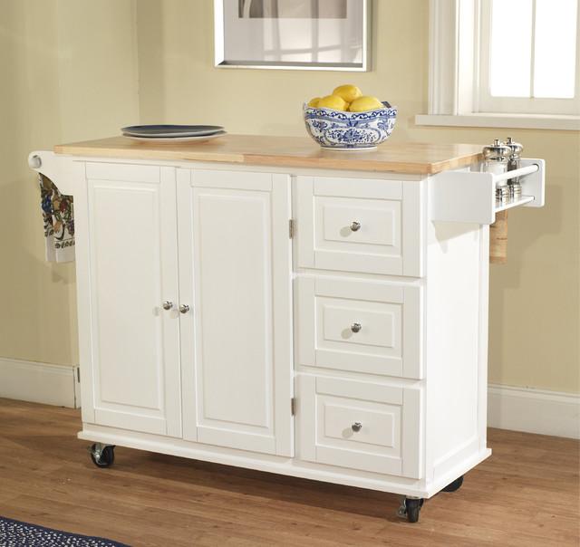 Aspen 3 Drawer Spice Rack Drop Leaf Kitchen Cart Contemporary Kitchen Islands And Kitchen