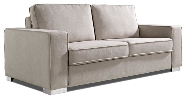 Sultan beige micorfiber fabric sofa bed modern futons for Sofa designer outlet