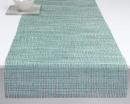 Chilewich - Chilewich Lattice Runner - Chilewich - Often likened to crystal and jewels, this naturally irregular open weave utilizes translucent and proprietary yarns which shimmer in any setting.  All Chilewich products, including modern table mats and contemporary placemat designs, are hardwearing and easy to clean. Indoor/outdoor use. Made in USA.