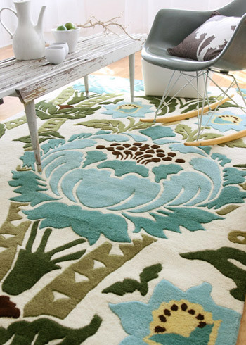 Amy Butler Hand-Tufted Wool Rug, Coventry tropical-kids-rugs