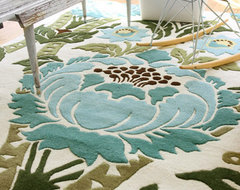 Amy Butler Hand-Tufted Wool Rug, Coventry tropical kids rugs