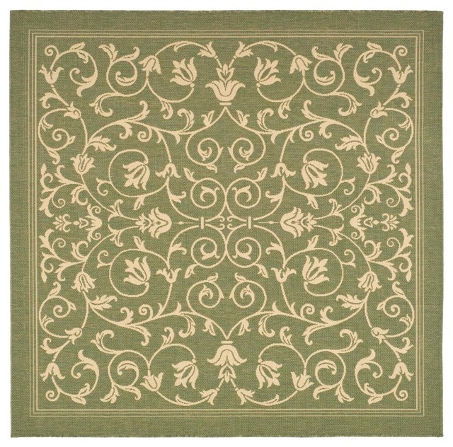 Safavieh Courtyard CY2098 Area Rug Olive/Natural traditional-outdoor-rugs