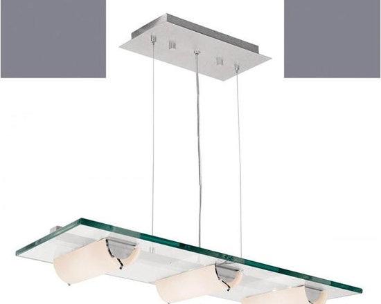 Access Lighting 50552-ALU/8CL Six Light Aluminum Island Light -