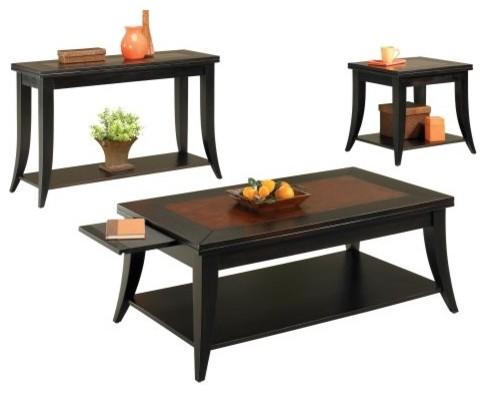 Hammary Lockwood 2-Piece Rectangular Coffee Table Set traditional-coffee-tables