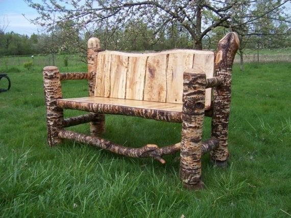 European White Birch Bench - benches - los angeles - by EcoFirstArt