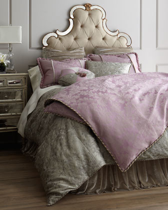 "Dian Austin Couture Home King Lavender Damask Duvet Cover, 108"" x 95"" traditional-duvet-covers-and-duvet-sets"